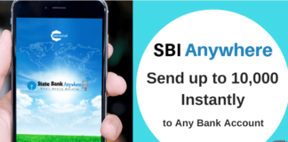 sbi anywhere send money