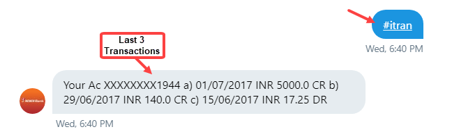 check icici account balance twitter