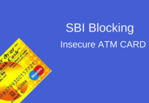 sbi block insecure atm card