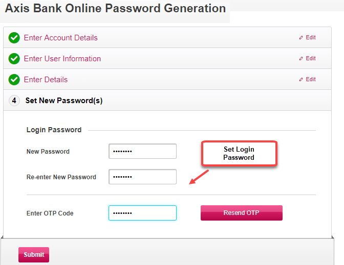 how to open netbanking in axis bank