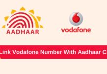 link aadhaar vodafone number