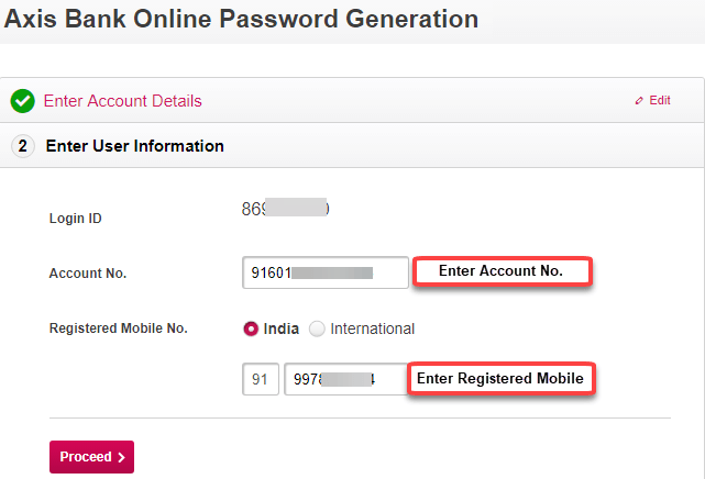 how to activate my axis bank net banking