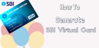 SBI virtual card online generate