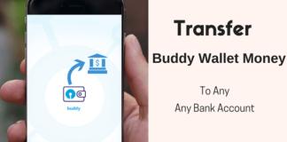 sbi buddy transfer money to bank account
