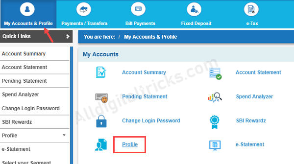 Register or Update Email ID With SBI Account