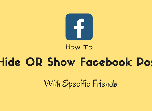 hide show facebook post specific friends