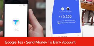 google tez send money bank account
