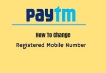 change paytm registered mobile number