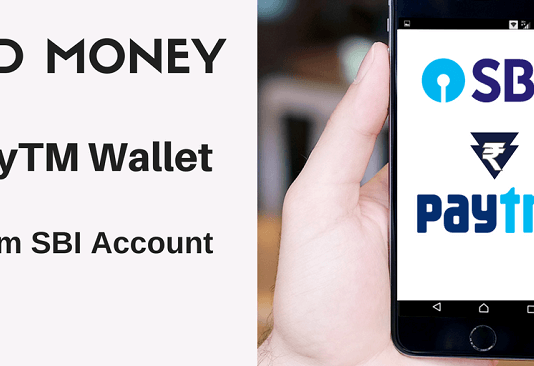 add money SBI account paytm