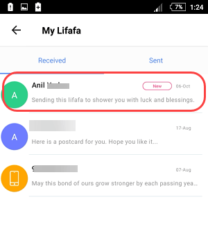 paytm lifafa send/receive