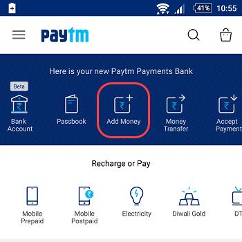 add money SBI account paytm