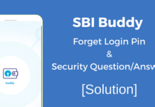 sbi buddy forget login pin security question answer