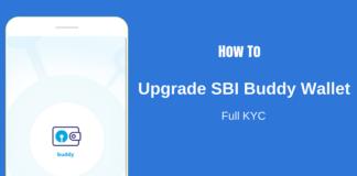 sbi buddy upgrade kyc
