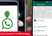 whatsapp live location sharing
