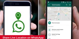 whatsapp live location sharing
