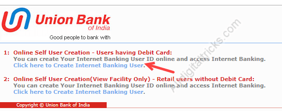 How To Register/Activate Union Bank of India Net Banking Online