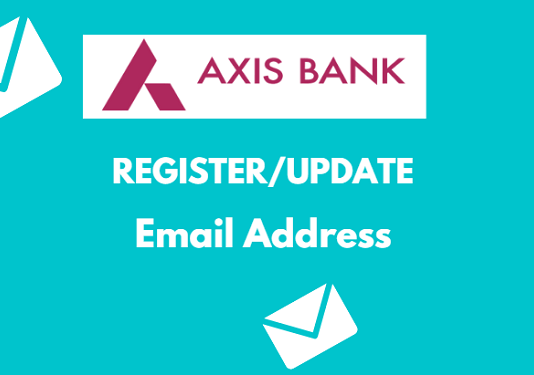 axis bank register update email id
