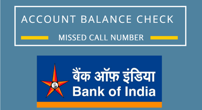 state bank of india balance checking missed call number