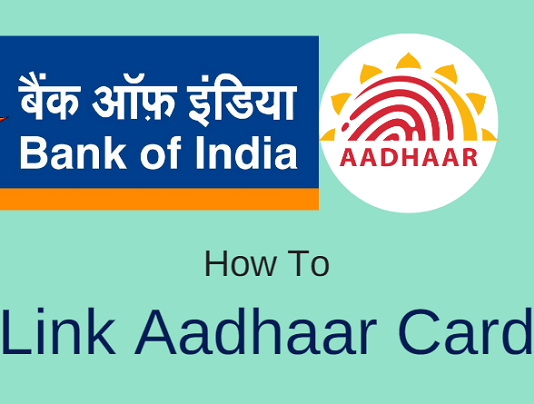 Bank of India Link Aadhaar Card