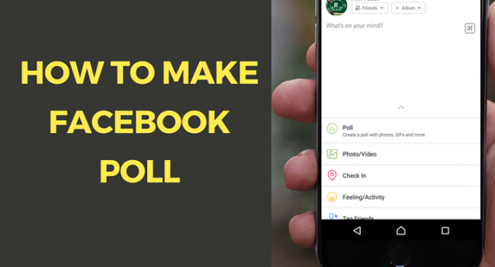how to take a poll on facebook