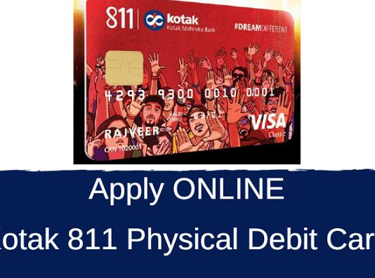 kotak 811 physical debit card apply