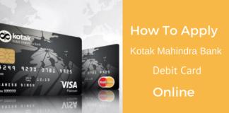 Kotak Mahindra Bank Apply Debit card online