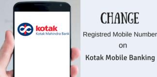 kotak mobile banking change registered mobile number