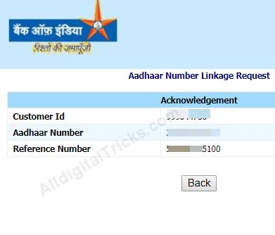 Bank of India Link Aadhaar Card