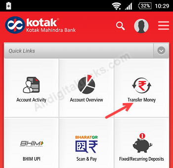 kotak 811 account deposit load money