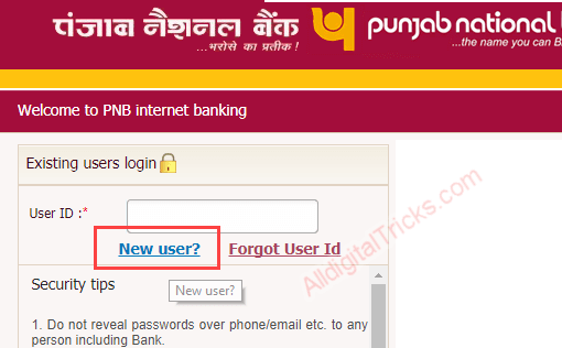 punjab national bank net banking registration online