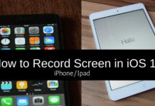 record screen iphone ipad ios11