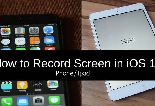 record screen iphone ipad ios11