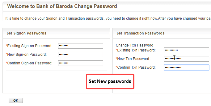 bank of baroda net banking register online