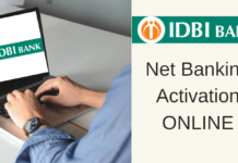 IDBI Bank net banking activate online