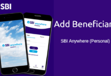 Add beneficiary SBI Anywhere