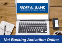 Federal Bank net Banking online activate