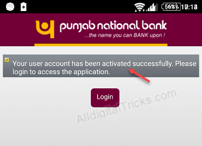 PNB mobile banking activation