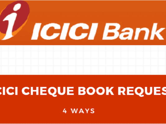 ICICI Cheque Book Order Online, ATM, SMS