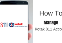 manage kotak 811 account online