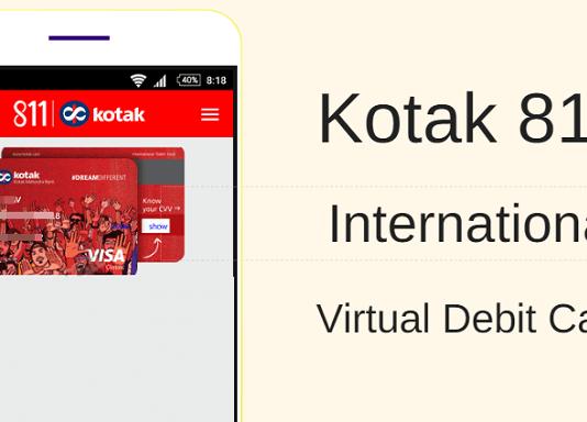kotak 811 virtual debit card review
