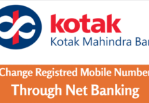kotak change mobile number through net banking