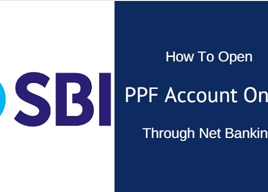 open ppf online in SBI