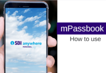how to use sbi mpassbook