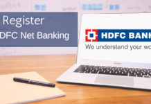 activate register hdfc net banking online