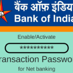 Bank of India Transaction password
