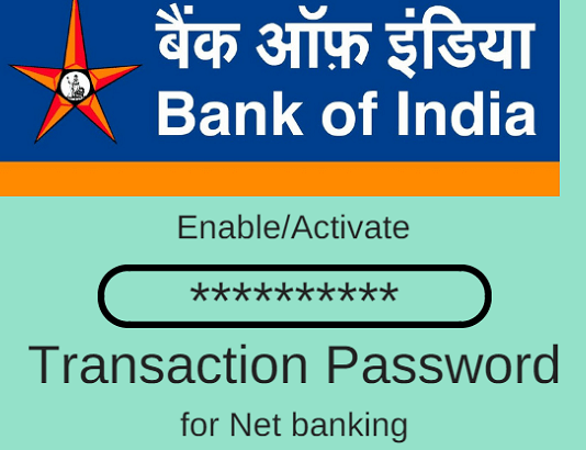 Bank of India Transaction password