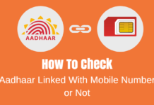 check aadhaar mobile link or not
