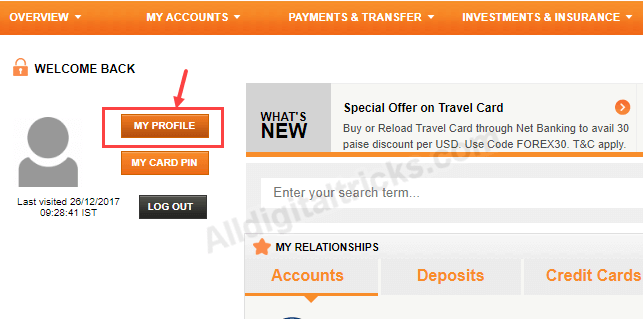 ICICI Change User ID net banking