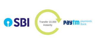 Money transfer SBI to paytm saving account