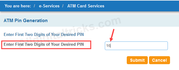 forgot sbi atm debit card pin